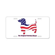 Original Patriotic Wiener Dac Aluminum License Pla