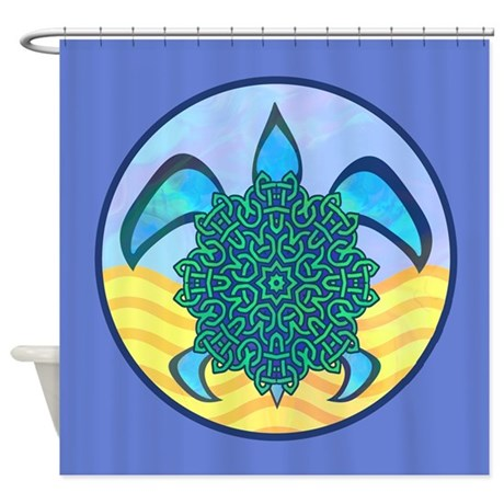 Knot Turtle Shower Curtain