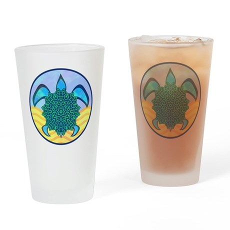 Knot Turtle Drinking Glass