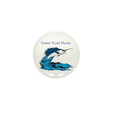 Personalizable Swordfish Design Mini Button (10 pa