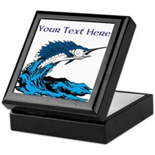 Personalizable Swordfish Design Keepsake Box