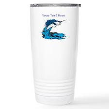 Personalizable Swordfish Design Travel Mug