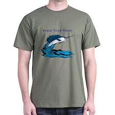 Personalizable Swordfish Design T-Shirt