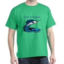 Personalizable Swordfish Design T-Shirt