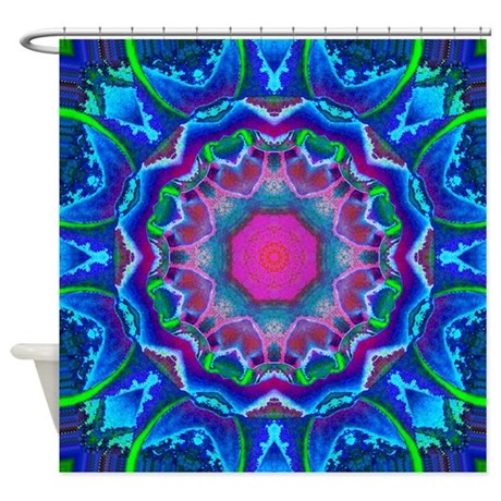 Cyberdelic Kaleidoscope Shower Curtain