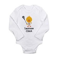 Cute Girls lacrosse Long Sleeve Infant Bodysuit