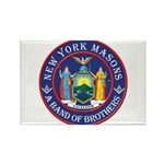 New York Brothers Rectangle Magnet