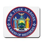 New York Freemasons. A Band of Brothers. Mousepad