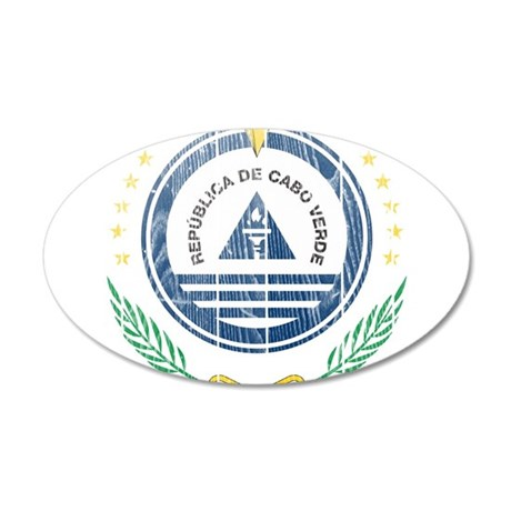 Cape Verde Coat Of Arms 20x12 Oval Wall Decal