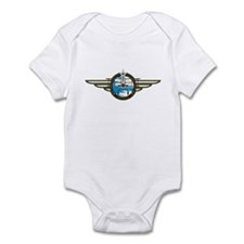 Airforce Pilot in Biplane Infant Bodysuit