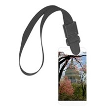Capitol Amongst Cherry Trees Luggage Tag