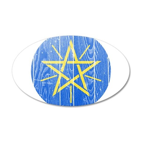 Ethiopia Coat Of Arms 35x21 Oval Wall Decal