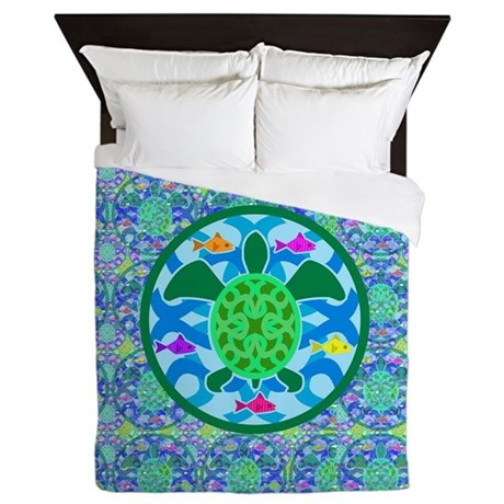 Green Sea Turtle Queen Duvet