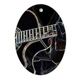 Guitar Player Oval Ornament