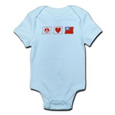 Peace Love and Taiwan Infant Bodysuit