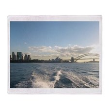 Sydney Harbour Waves Throw Blanket