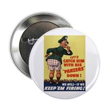 World War II Patriotic Poster Button