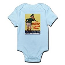 World War II Patriotic Poster Infant Creeper