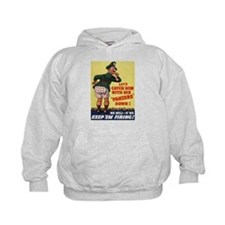 World War II Patriotic Poster Hoodie