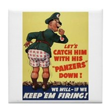 World War II Patriotic Poster Tile Coaster
