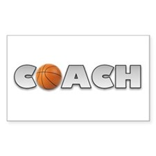 Basketball Coach Rectangle Decal