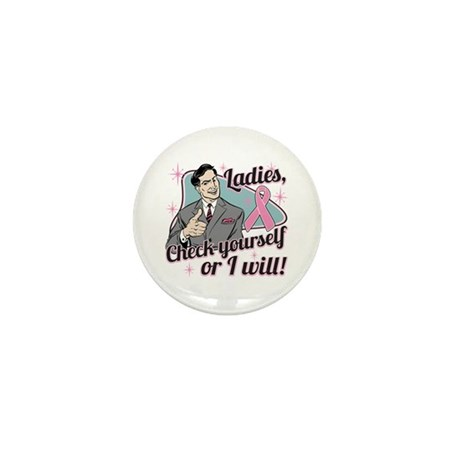 Check Yourself Breast Cancer Mini Button (10 pack)