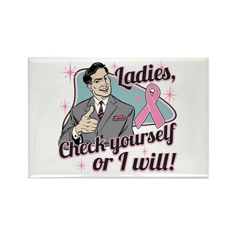 Check Yourself Breast Cancer Rectangle Magnet (10