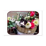 Kitten in a Basket Mini Poster Print