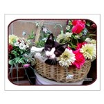 Kitten in a Basket Small Poster