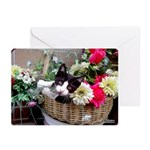 Kitten in a Basket Greeting Cards (Pk of 10)