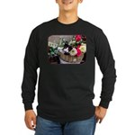 Kitten in a Basket Long Sleeve Dark T-Shirt