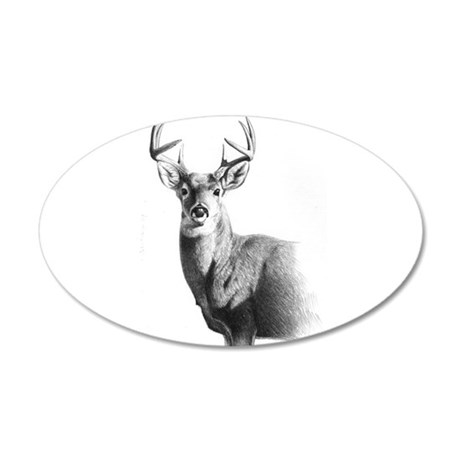Whitetail 20x12 Oval Wall Decal