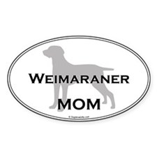 Weimaraner MOM Oval Decal