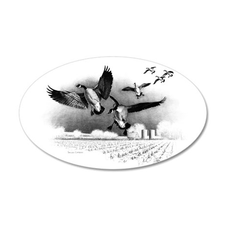 Canadian Geese 20x12 Oval Wall Decal