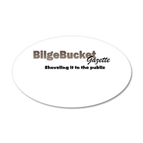 BilgeBucket Gazette 20x12 Oval Wall Decal