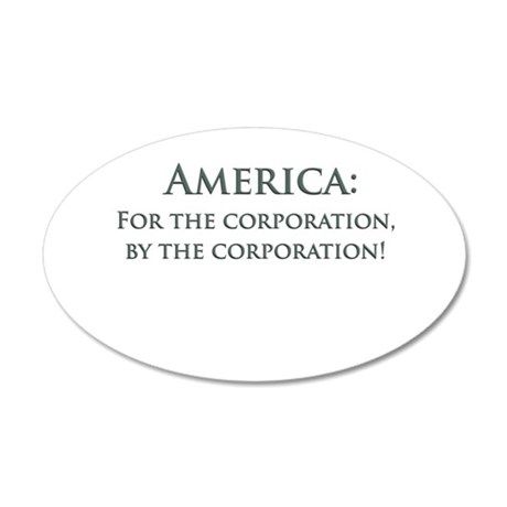 America For The Corporation 20x12 Oval Wall Decal