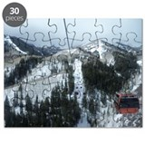 Ski Resort in Winter scene Puzzle