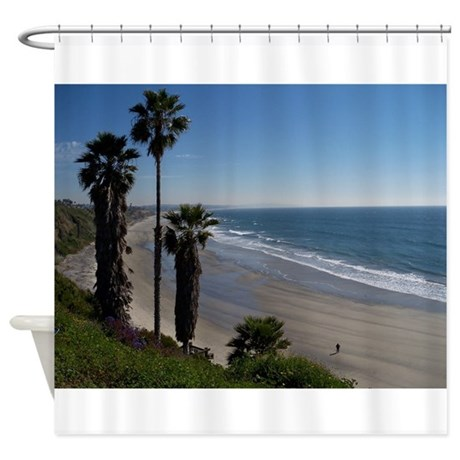 Beach Curtains For Kitchen Ocean Shower Curtain