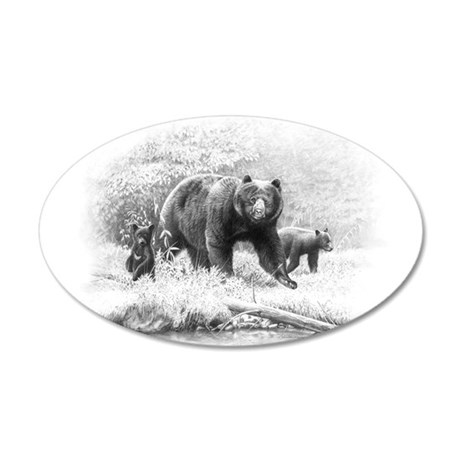 Black Bear 35x21 Oval Wall Decal