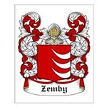 Zemby Coat of Arms Small Poster