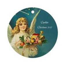 Vintage Victorian Personalized Angel Ornament