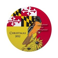 Maryland Themed Christmas Ornament