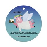 Piggy Figgy Pudding Christmas Ornament