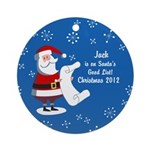 Personalized Santa's Good List Ornament