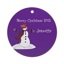 Red Hat Lady Personalized Holiday Ornament