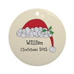 Personalized Santa Cap Ornament