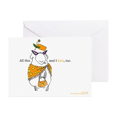 Sassy Dolores Greeting Cards (Pk of 10)