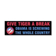 Give Tiger a Break Car Magnet 10 x 3
