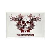 dark red skull Rectangle Magnet (100 pack)