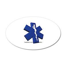 EMT/Paramedic Logo Star of Life 35x21 Oval Wall De